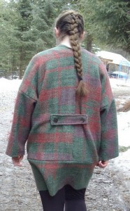 Saori Jacket back with belt detail