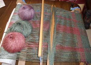 Saori jacket Rigid Heddle weaving for jacket 1
