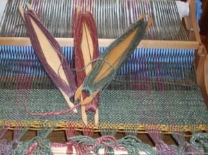 Saori jacket Rigid Heddle weaving for jacket 6