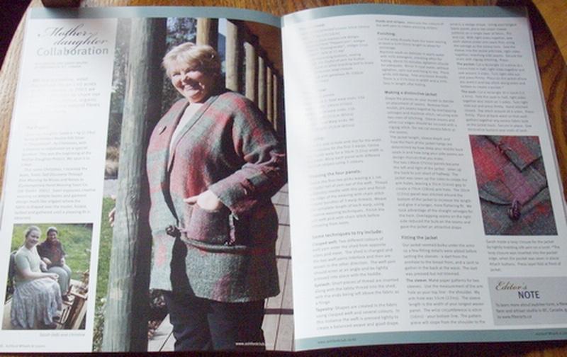Saori jacket magazine article