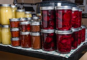 food preserved by pressure canning