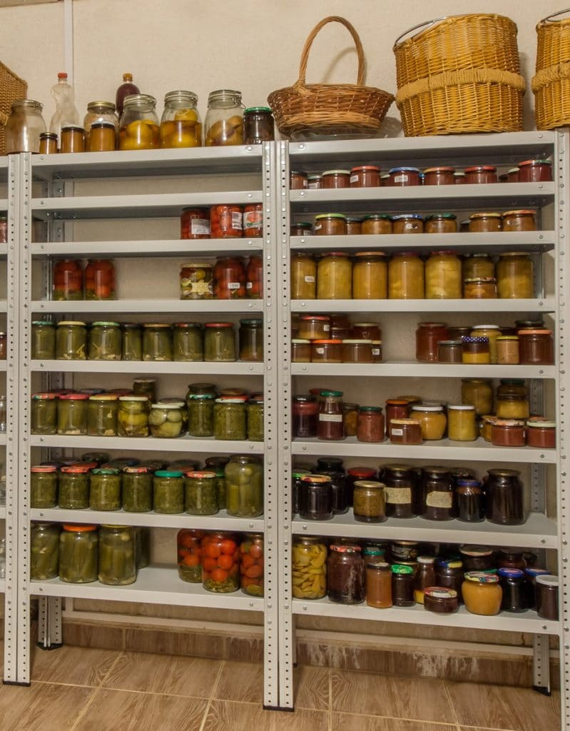 prepare for challenging times by storing food