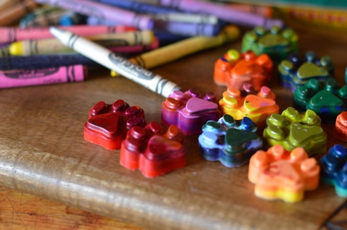 crayons and recycled crayons