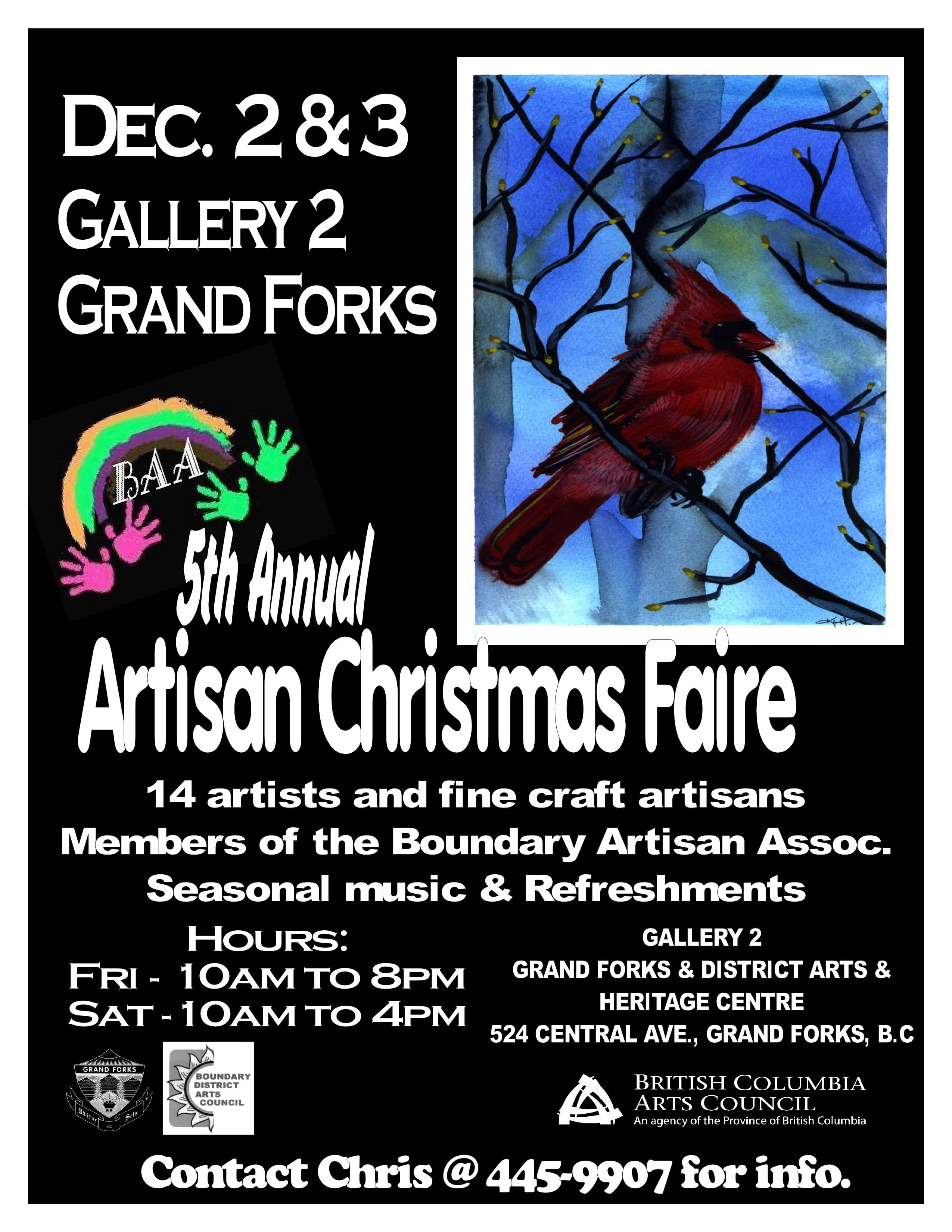 BAA Artisan Christmas Faire Dec 2 and 3 — Support Your Local Artisans
