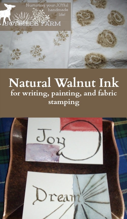 Natural Walnut Ink for writing, painting, and fabric stamping
