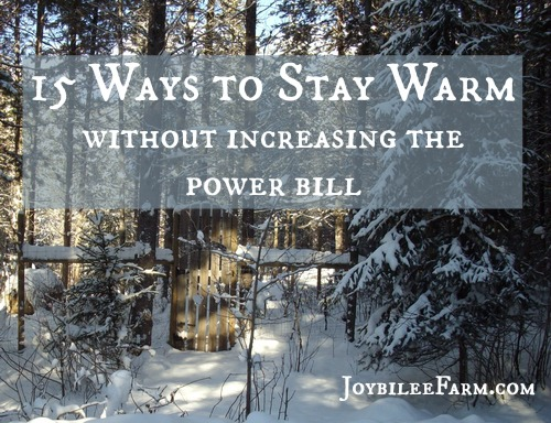 15 ways to stay warm