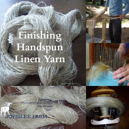 Finishing handspun linen yarn