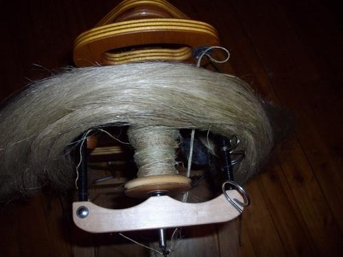 Spinning linen