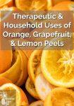 Close up of orange rinds without fruit