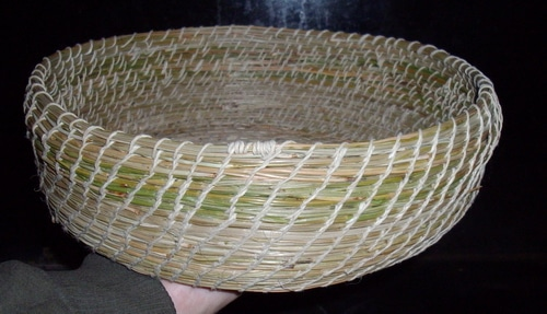 completed Pine needle basket