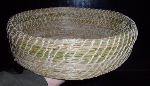completed Pine needle basket