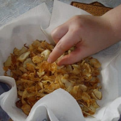 Frugal, Homemade, and Healthy Potato Chips and Veggie Chips