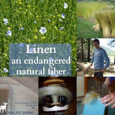 Linen, an endangered natural fiber