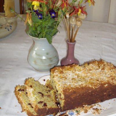 Gluten-Free Coconut Cranberry Bread