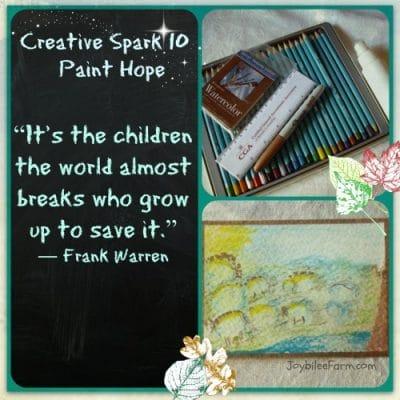 Creative Spark 10 – Paint Hope
