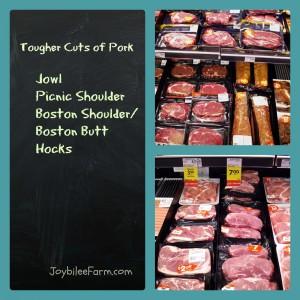 Tougher Cuts of Pork
