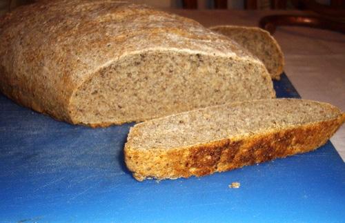 Artisan bread sliced