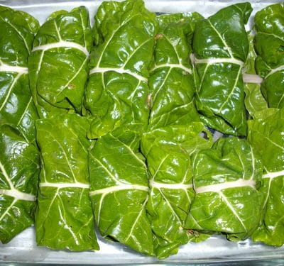 Swiss Chard 'Cabbage Rolls'