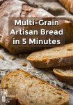 Sliced, fresh baked whole grain bread