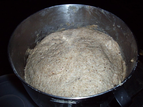 Put dough in a bowl. The dough will be moist and sticky.