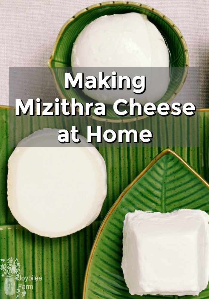 White cheese on green decorative plates