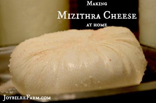 Homemade Mizithra Cheese