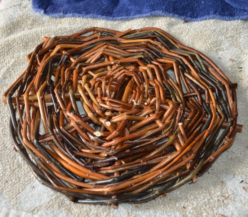 Willow basket base completed