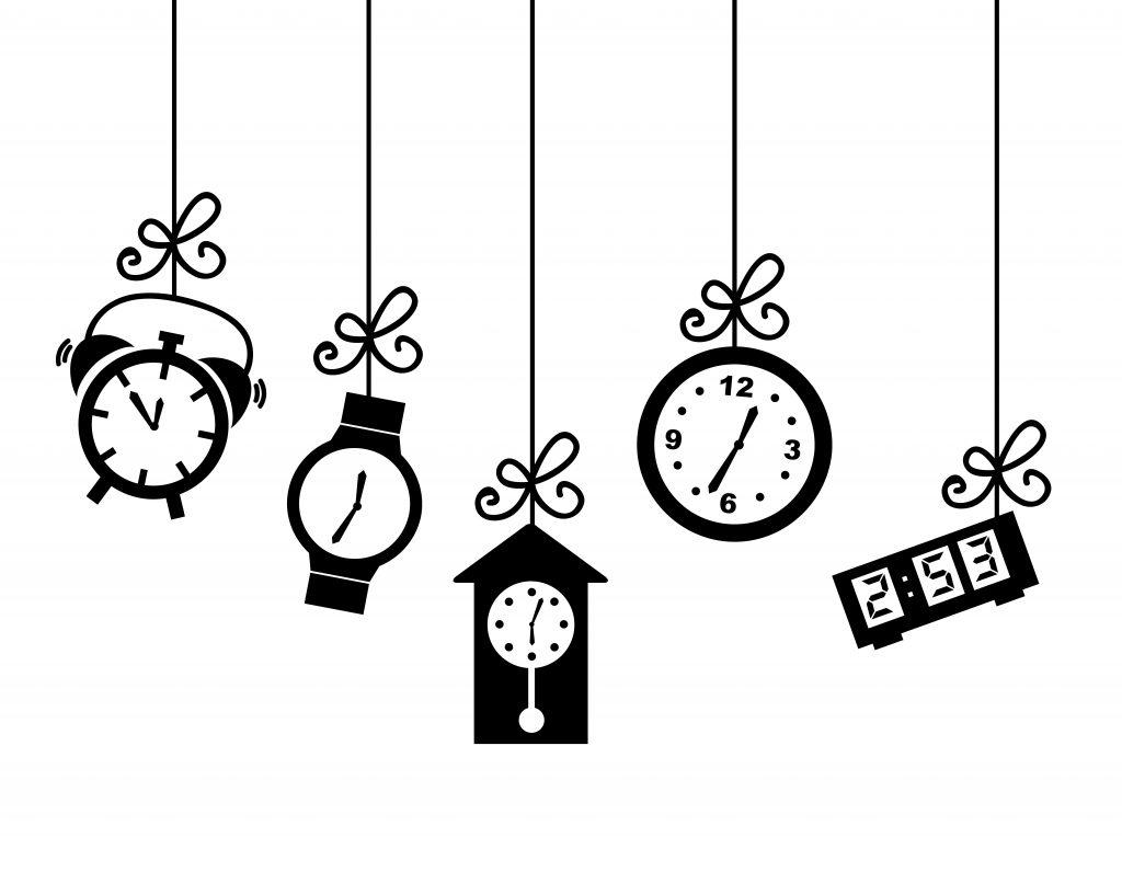 clocks telling time