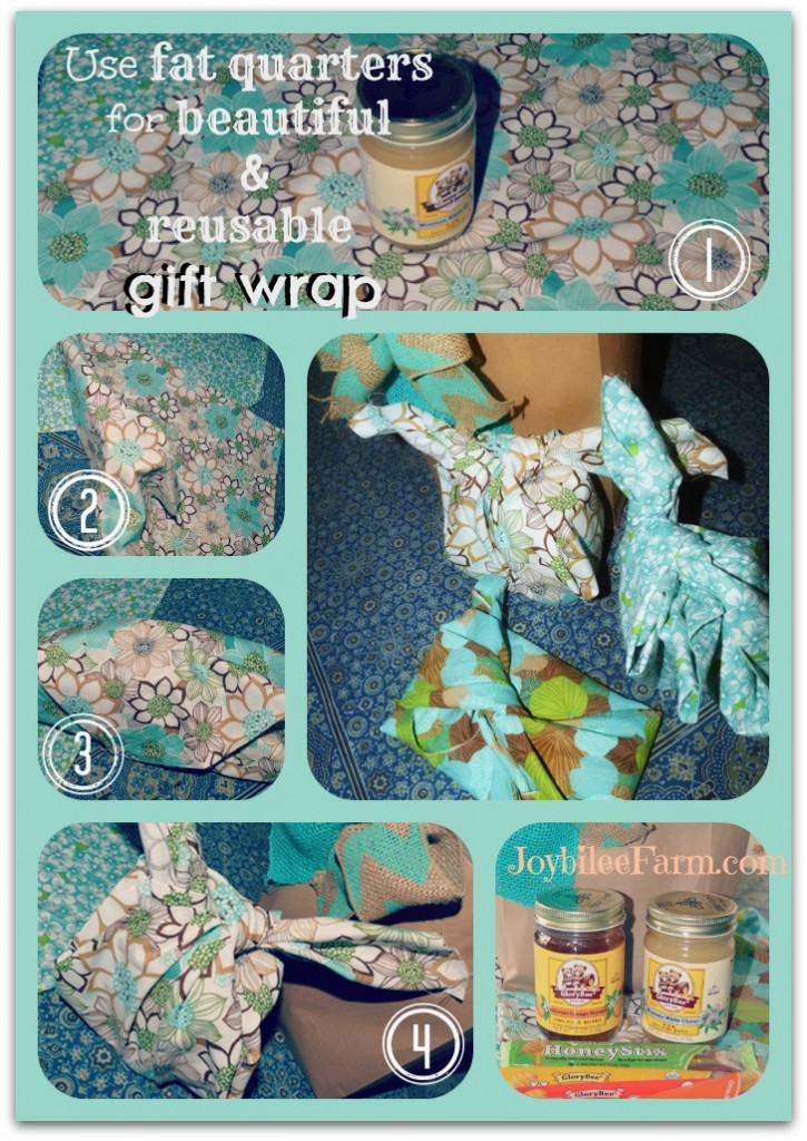steps for wrapping gifts with cloth