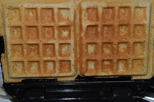 Waffles fresh from the waffle iron