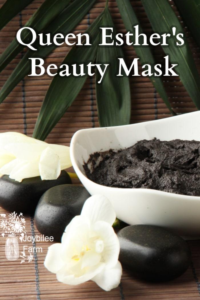 a prepared mud mask in a white bowl