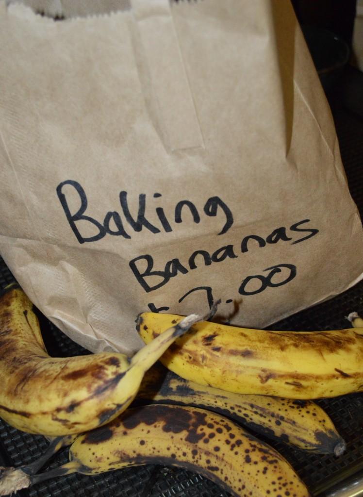 Very ripe bananas on sale