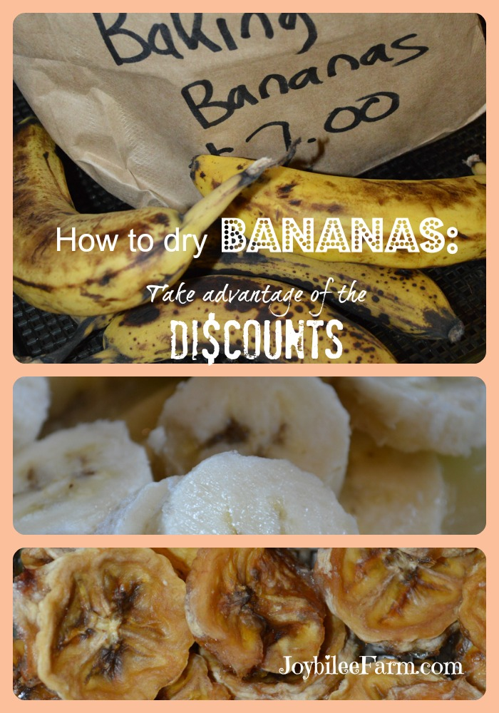 Photo collage of bananas - very ripe, sliced and dehydrated