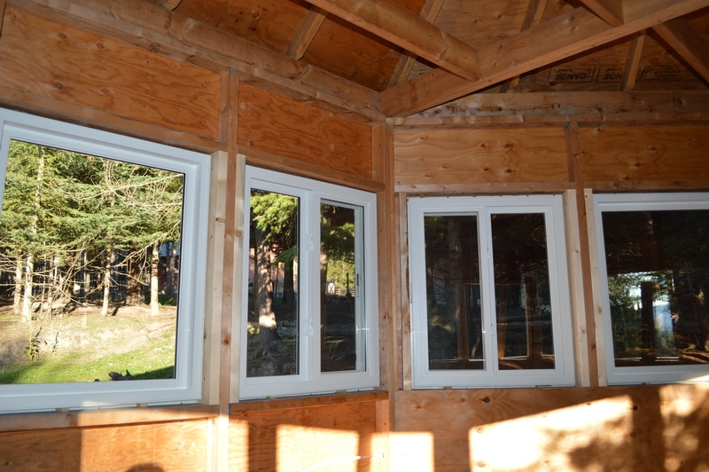 interior windows of writer's retreat