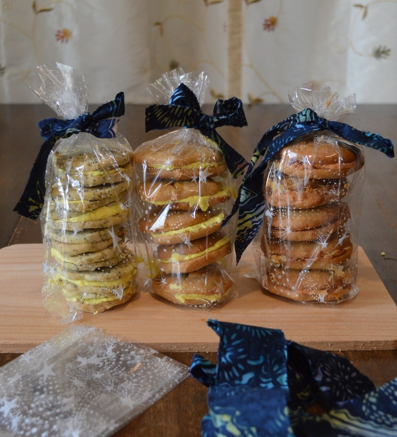 Cookies packaged for gift giving