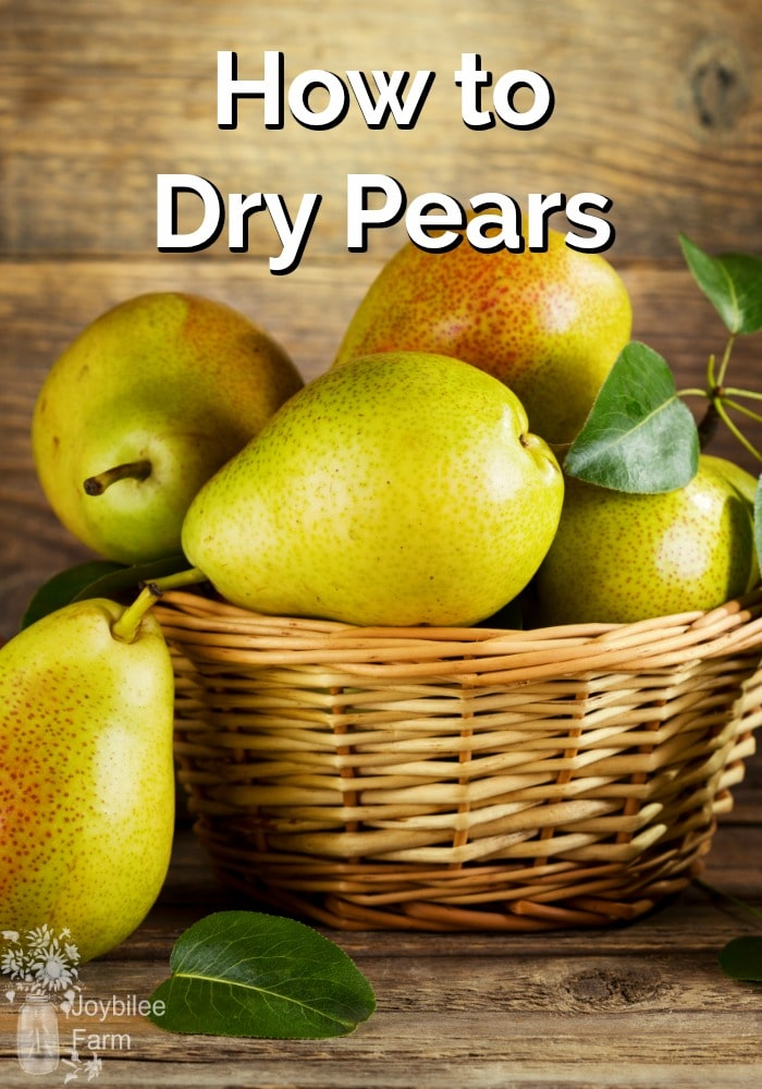 Fresh pears stacked in a wicker bowl