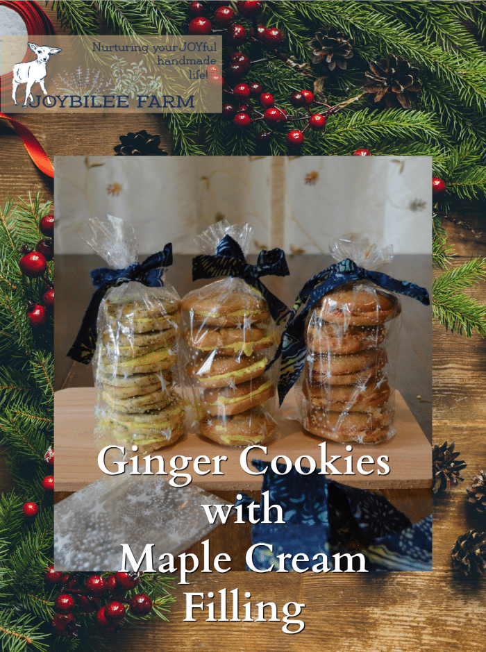 Ginger Cookies with Maple Cream