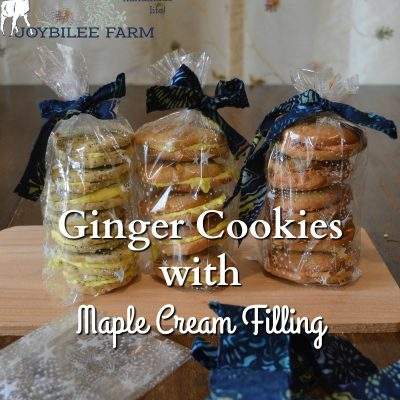 Ginger Cookies with Maple Cream Filling