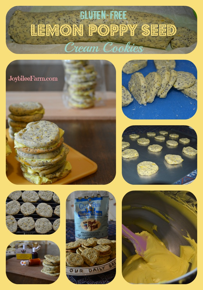 Lemon Poppy seed cream cookies