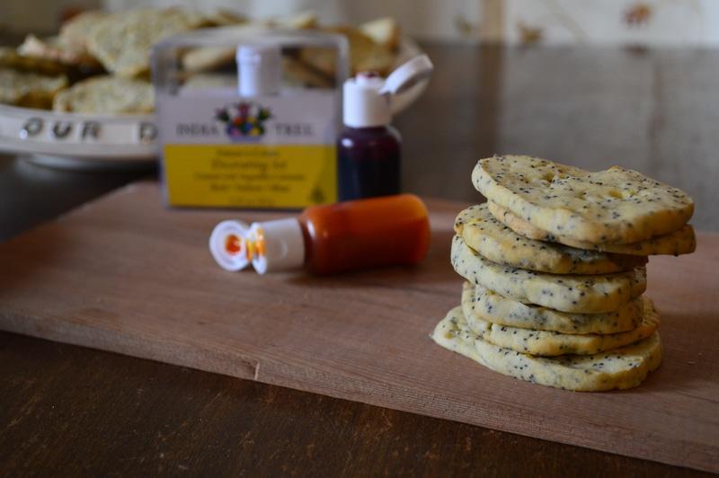 Lemon poppyseed cookies India Tree