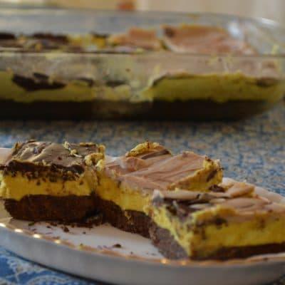 Minty Nanaimo Bar Recipe to make ahead