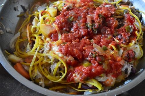 Vegetable noodle spagetti
