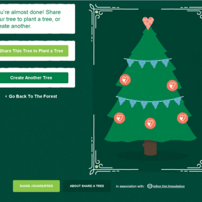 Decorate a Virtual Forest and help to plant real trees