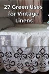 vintage linens on a bed