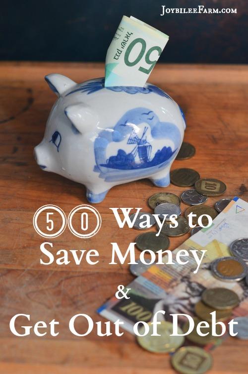 50 Way to save money