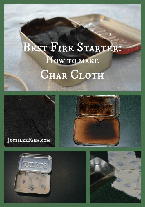 Best Fire Starter -- How to Make Char Cloth -- Joybilee Farm