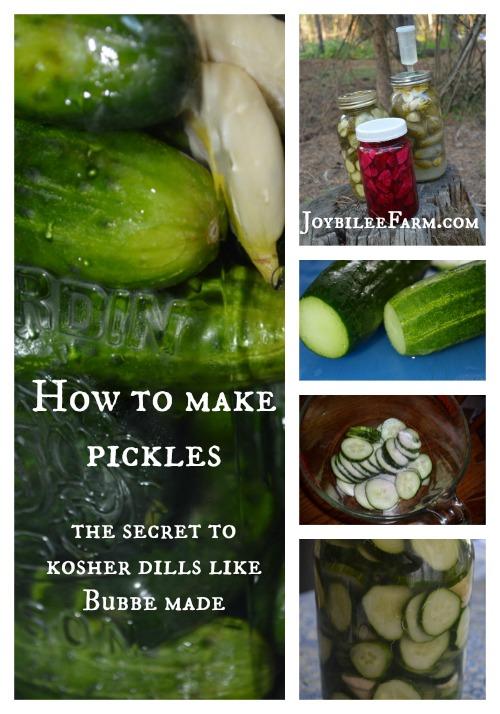 How to make pickles -- Joybilee Farm