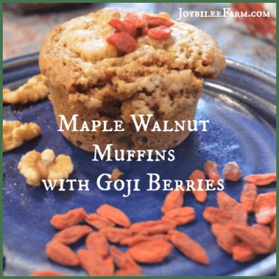 Breakfast Muffins: Maple Walnut Muffins with Goji Berries
