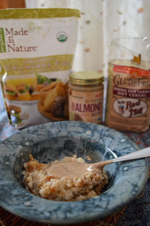 Gluten free cereal with figs and almond butter 2