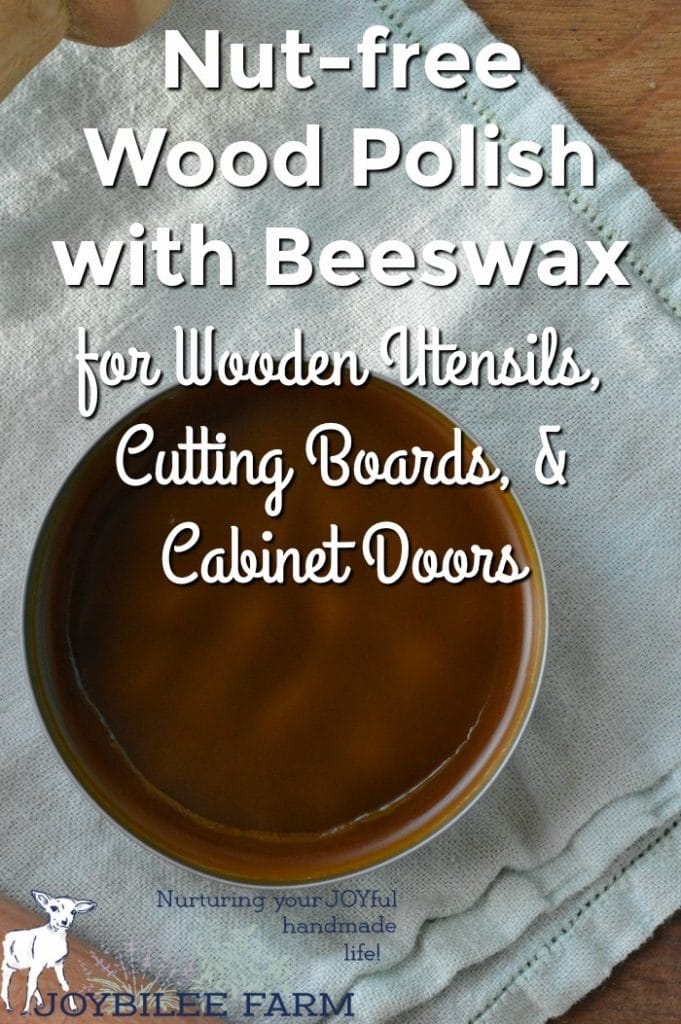 Beeswax wood polish on a cloth